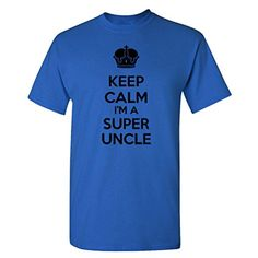 So Relative! Keep Calm I'm A Super Uncle Adult T-Shirt (Royal, XL) - Brought to you by Avarsha.com