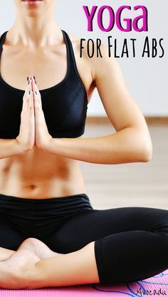 This yoga for flat abs workout consists of great yoga poses to tone your abs and help you lose weight. #yogaforbeginners #yogaworkout #yogaforweightloss