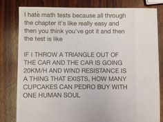 Best math test horror story ever told