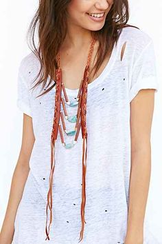 Love + Leather Moon Necklace