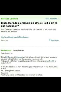 Is it a sin to use Facebook?