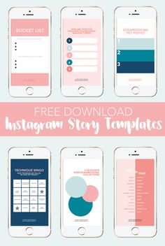 Free Download: Scrapbooking Instagram Story Templates by ScatteredConfetti.