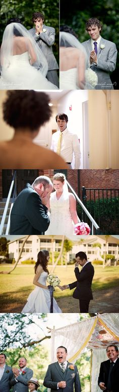 These grooms seeing their brides for the first time: | 28 Pictures That Prove Dreams Do Come True