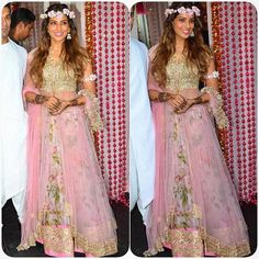Bipasha Basu decked out in @AnushreeReddyOfficial to kick off her wedding weekend by desi_couture