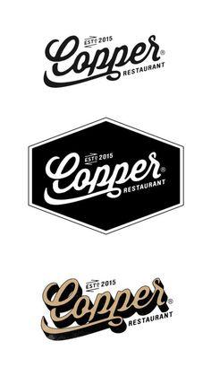 Alex Ramonmas, du lettering qui sent bon le garage et le cambouis - Logos Logo Café, Type Logo, Script Logo, Typography Logo, Bar Logo, Logo Restaurant, Copper Restaurant, Cafe Branding, Branding Design