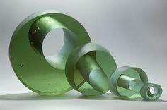 Orbit Series I by Heike Brachlow. 2008. Cast didymium glass