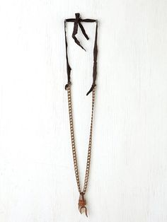 Bess Leather Wrapped Crystal Pendant at Free People Clothing Boutique