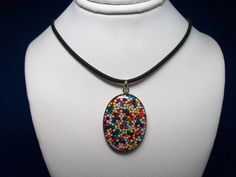 CANDY NECKLACE with Black Rubber Cord by gandltreasures on Etsy, $11.00