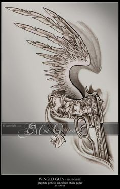 Image detail for -Winged Gun Tattoo by ~mcr-raven on deviantART