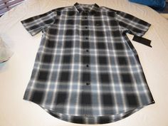 Men's Hurley shirt button up surf skate NEW plaid MVS0002710 Cole 00A M medium #Hurley #ButtonFront