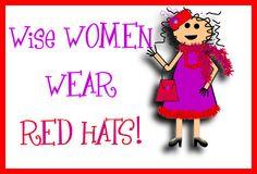 n,;flkgdsgjpoiutp0u Red Hat Club, Red Hat Ladies, Wearing Purple, Red Hat Society, Purple Things, Mural Ideas, Wise Women, Some Cards, Red Hats