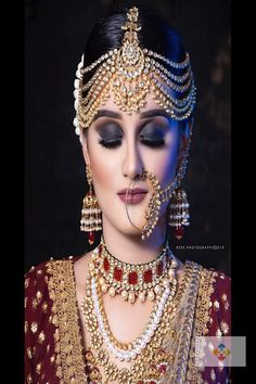 Braut Augen Make-up-Smokey – Scarf Ideas 2020 Pakistani Bridal Makeup, Bridal Eye Makeup, Bridal Makeup Looks, Indian Bridal Fashion, Indian Bridal Wear, Indian Wedding Jewelry, Pakistani Bridal Dresses, Bridal Looks, Bridal Jewelry