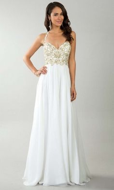 long prom dress, elegant prom dress, simple prom dress, white prom dress