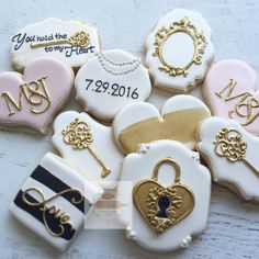 You hold the  to my ❤️ #bridalshowercookies #keytomyheart