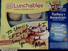 lunchaborts?   wow
