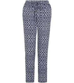 Blue Geo Print Joggers- I like that the print isn't overwhelming