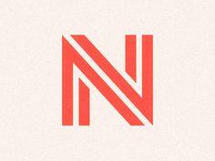 N by Kareem Magdi #logo #mark #symbol #letterform #negativespace #monogram #minimal #geometric