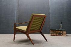 Vintage Danish Modern Relling Bambi Sculptural Teak Chair modern-accent-chairs