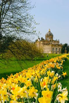 Castle Howard in the Spring, Yorkshire, England. Built between 1699 and 1712 by Sir John Vanbrugh for the 3rd Earl of Carlisle