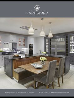 Argento Kitchens From Underwood Grey Is The New Black Inspiration For Bench Seat On Island Side Center Table Gray Rug