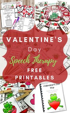 FREE Speech Therapy Valentine's Day Activities - The Pedi Speechie Speech Therapy Themes, Preschool Speech Therapy, Speech Therapy Activities, Speech Language Pathology, Language Activities, Speech And Language, Articulation Activities, Preschool Songs, Learning Activities