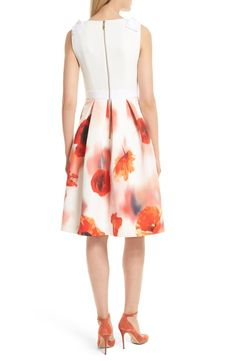Ted Baker London Micla Playful Poppy Bow Dress | Nordstrom