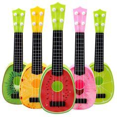 Baby Musical Ukulele 4 Strings Fruit Guitar Learning Educational Plastic Instrument Toys instrumentos musicais for Children