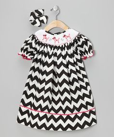 Take a look at this Black Poodle Bishop Dress & Bow Clip - Infant, Toddler & Girls by Molly Pop Inc. on #zulily today!
