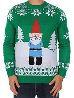 Men's Christmas Jumper - The Suspicious Gnome Jumper by Tipsy Elves