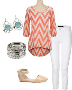 Spring Outfit with d'orsay flats.