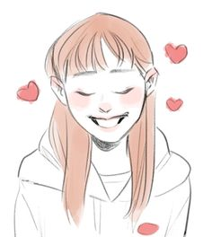 """""""when chuu puts her hair behind her ears and they stick out 💕"""" Chuu Loona, Sketches, Fan Art, Kpop, Drawings, Illustration, Cute, Anime, Painting"""