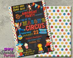 Printable Circus Birthday Invitation (Digital File Only)