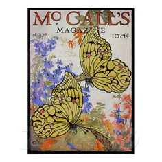 Again, I am drawn to the images of butterflies. I love the colors in this poster.