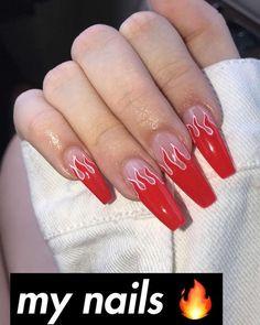 Nagel Kunst nails nails nails nails for teens fall 2019 fall autumn fake nails nails natural Aycrlic Nails, Matte Nails, Coffin Nails, Best Acrylic Nails, Acrylic Nail Designs, Acrylic Nail Art, Fire Nails, Dream Nails, Birthday Nails