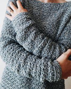 The Rainy Day Sweater Pattern / Crochet Sweater Pattern /