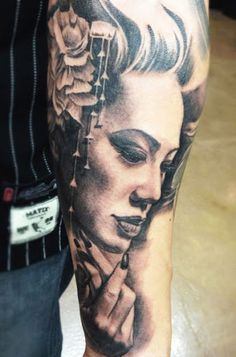 Realism Woman Tattoo by Carlos Torres?