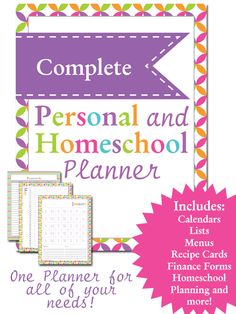 Wow!  This is an awesome freebie from Life of a Homeschool Mom!!  For the next two weeks, she is offering her Personal and Homeschool Planner to everyone for FREE!  This normally sells for $9.99!!!  You will have everything you need!