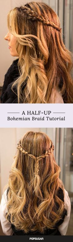Though this stunning headband-fishtail braid tutorial has bohemian flair, it's also the perfect hair DIY for brunch, dinner with your in-laws, attending a wedding, and more!  Learn how to create this intricate style with our tips.
