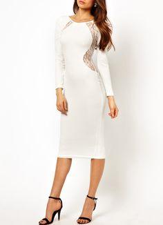 robe moulante dos dénudé -blanc