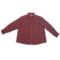 timeless shirt by Quenotte http://www.littlefashiongallery.com/fr/mode-enfant/quenotte/maxime-shirt-carreaux-rouge-marine-red-h13/