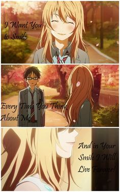 In Your Smile I Will Live Forever... Your lie In April