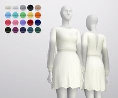 S4 _See-through Long sleeve Dress (20 color) : 네이버 블로그