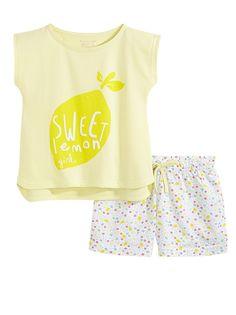 Fille - Pyjama Girls - Nightwear LE PYJAMA CLAP : Un pyjama acidulé pour des nuits remplies de rêves ! LE PYJAMA CLAP, Haut : col rond