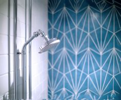 Psycle London Hand made blue dandelion tiles by http://www.marrakechdesign.se/welcome.html