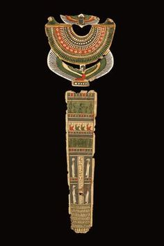 A Mummy-Cover of Isisemachbit ,L. max. 43 cm. Cartonnage, polychrome. Egypt, Ptolemaic Period, 1st cent. B.C.-1st cent. A.D.