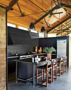 Contemporary Kitchen by Madeline Stuart & Associates and Lake | Flato Architects in Montana
