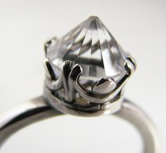 Crystal sterling ring by prox