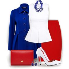 Red+Blue by jiabao-krohn on Polyvore featuring polyvore fashion style Miss Selfridge Forever New Alexander Wang TaylorSays Mulberry Banana Republic