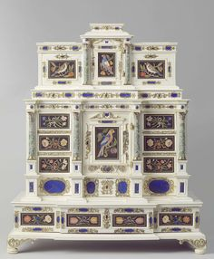 Cabinet, anoniem, Opificio delle pietre dure, Johann Spitzmacher, c. 1660 - c. 1670