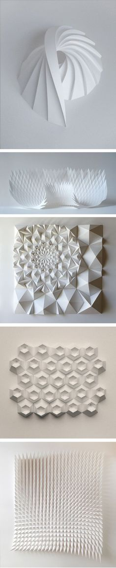 New origami architecture landscape paper art Ideas Art Origami, Origami And Kirigami, 3d Paper, Paper Crafts, Paper Engineering, Paper Folding, Book Folding, Paper Cutting, Book Art